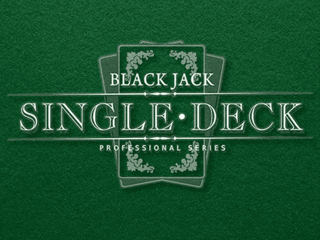 Игровой автомат Single Deck Blackjack Professional Series